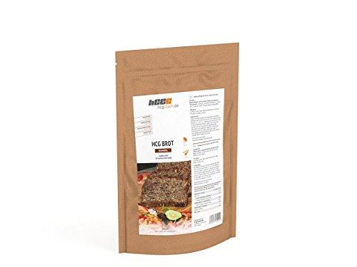 4-Pack: hCG-Low Carb Brotbackmischung erstes Brot für hCG strenge Phase geeignet (DARK)