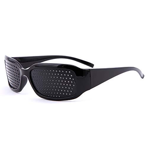 Gobesty Rasterbrille/Lochbrille für Augentraining, Raster-Brille/Loch-Brille für Augen-Training und Entspannung Gitterbrille mit faltbaren Bügeln, Korrekturgläser Anti Müdigkeits Brille