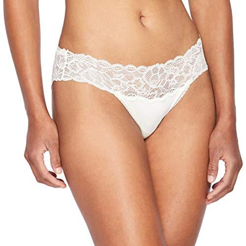 Calvin Klein Bikini Seductive Comfort Slip, Avorio (Ivory 101), M Donna