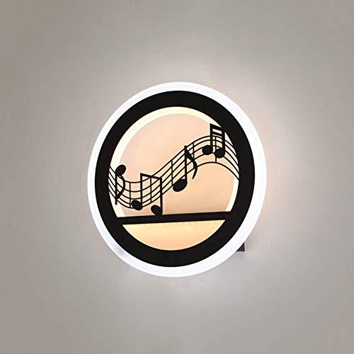Meixian Creatieve wandlamp, acryl, rond D12 LED design energiebesparend, decoratieve wandlamp voor nacht woonkamer, eenvoudig retro