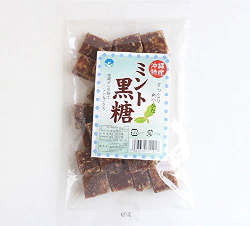 ミント黒糖 (加工) 140g わかまつどう製菓 沖縄土産に最適 スッキリ爽やか、午後のおやつに (12袋)