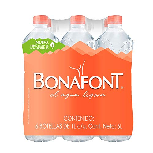 Bonafont, Agua Natural, 1litro, 12 Pack