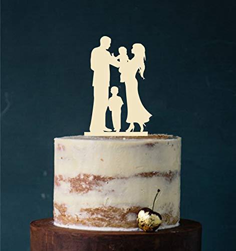 Manschin Laserdesign Cake Topper, taartfiguur acryl, taartstandaard, etagère bruiloft bruidstaart