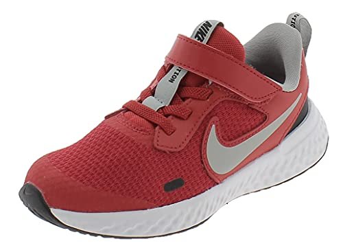 Nike Revolution 5, Scarpe da Tennis Unisex-Bambini, University Red/lt Smoke Grey-Black-White, 33 EU