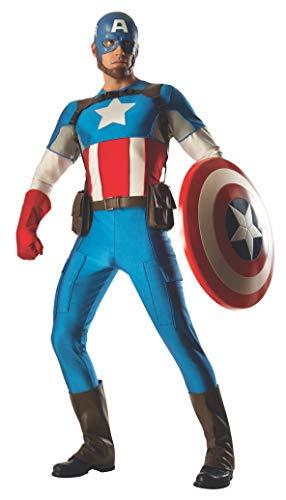 Rubies Marvel Officiel Captain America Costume Grand Heritage Deluxe – Hommes de Taille Standard Adulte
