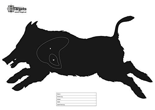 X-Targets Zielscheiben Laufender Keiler / 50x70 cm/Papier 120g/m² (20 Stück)
