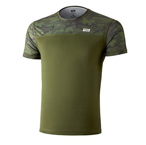 42K Running - Maglietta tecnica 42 K MIMET da uomo a maniche corte., Uomo, verde, XL