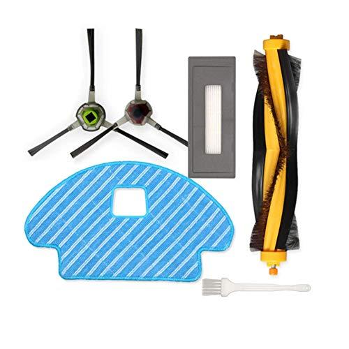 Ersatzkit für Ecovacs Deebot Ozmo 930 Zubehör für Robotics DG3G-KTA Buddy, 1 Hauptbürste 2 Seitenbürsten 1 Feinstaubfilter 1 Reinigungstücher, 5 Stück