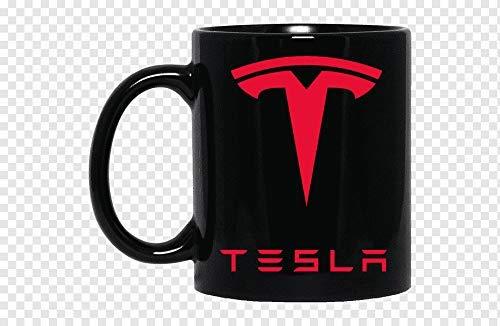 N\A Tesla Motors Taza de Coche eléctrico Taza de café de cerámica de cumpleaños Divertido Taza 11 oz