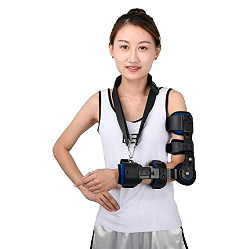 MTYQE Soporte para Codo, Coderas para tendinitis,Rango de Movimiento Ajustable de ortesis, para Artritis, tendinitis y Codo de tenista,recuperación de Lesiones postoperatorias,Right