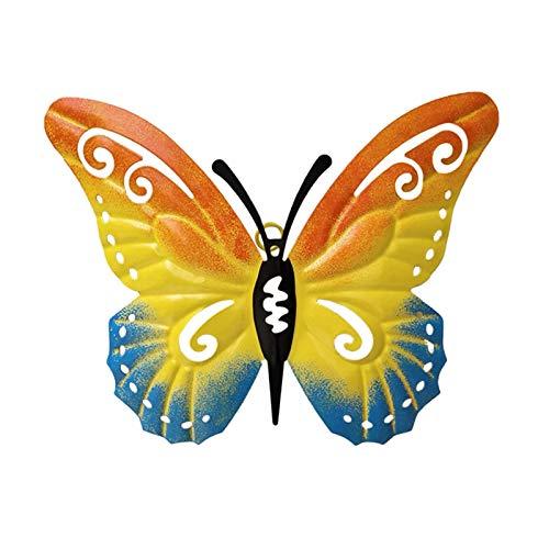 XZ Garden Butterflies Ornaments Coloured Outdoor Metal Butterfly Wall Art Decorative Garden Ornaments for Patio Lawn Outdoor Butterflies Decoration