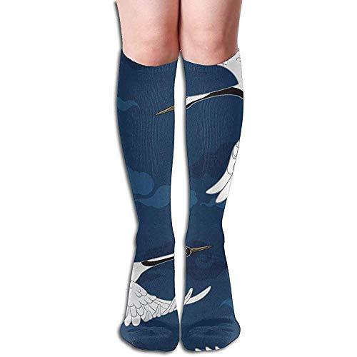 Joy Edward Grúas japonesas tradicionales Grúas Calcetines de compresión Botas altas Medias Manguera