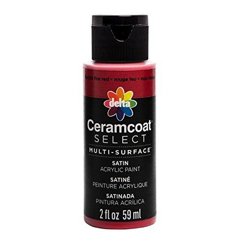 Plaid : Delta Ceramcoat Select Peinture Multi-Surfaces Fire Rouge 15 ML