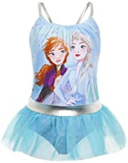 Disney Frozen 2 Bañador para Niña Princesas Anna y Elsa, Trajes de Baño de Una Pieza El Reino del Hielo, Bañadores para Piscina Natacion Vacaciones, Regalos Niñas