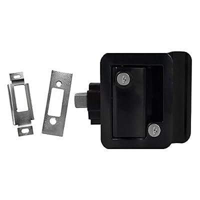 Black RV Paddle Door Handle   RV Door Lactch   Entry Door Handle   Camper (Trailer) Front Door Handle   Door Knob   w/Deadbolt