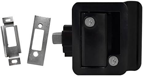 RecPro New Black RV Camper Trailer Motorhome Paddle Entry Door Lock Latch Handle KNOB DEADBOLT