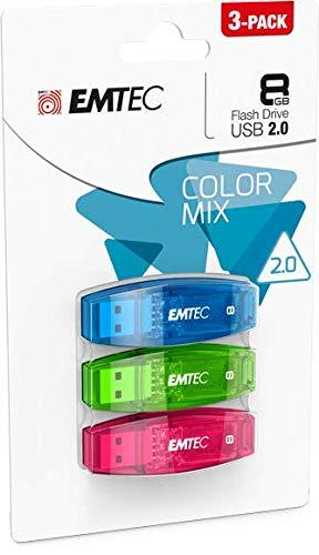 Emtec ECMMD8GC410P3CB Pack de 3 clés USB C410 8GB
