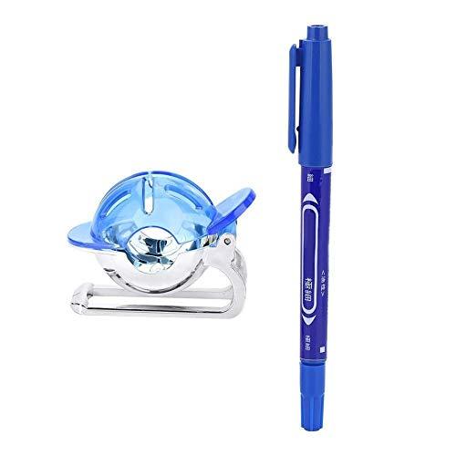 Golfballmarker - Golfballliner Linienmarker Zeichenschablone Ausrichtwerkzeug mit Stiftzubehör (Farbe : Blau)