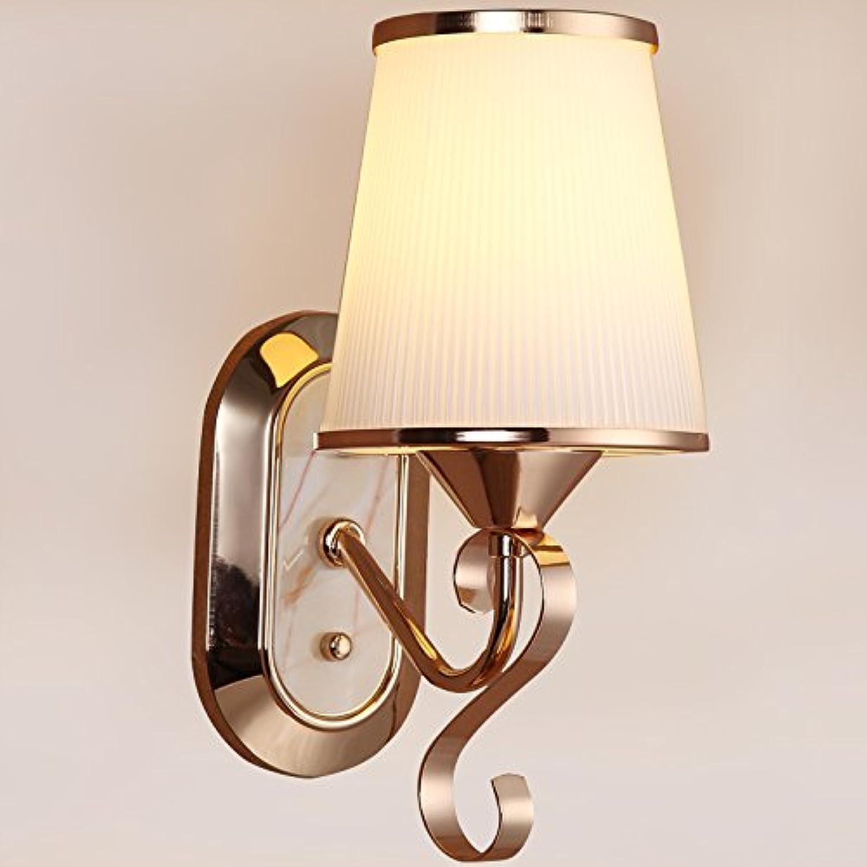 Yyhaoge Wandleuchten das Golden Crystal LED Wandleuchte Wand-Lampe Nachttisch Schlafzimmer Wohnzimmer Flure Hotels Lampe gerade Streifen Einzelkopf