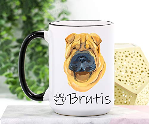 Taza de cocina Shar Pei Shar Pei Gifts Shar Pei Shar Pei Mom Mug Dog Mom Mug Regalos para perro mamá Taza personalizada Regalo para perro mamá amante perro taza de café
