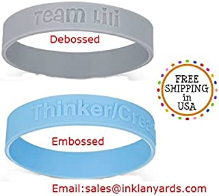 100 pcs PERSONALIZED SILICONE WRISTBANDS OFFER FROM $65-$105