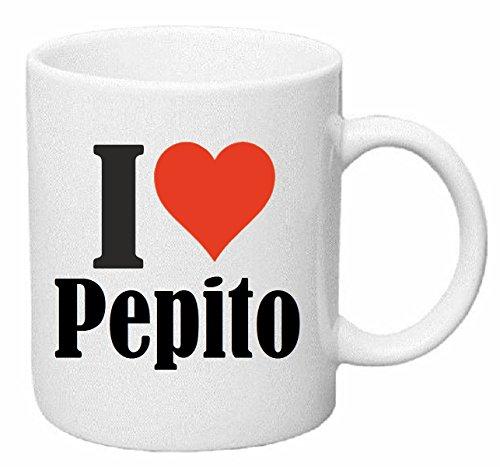 Reifen-Markt Tasse de Café Tasse à Thé … Coffee Mug I Love Pepito Hauteur 9 cm de Diamètre 8 cm Volume 330 ML Le pour Leur Partenaire - Collègue - Amis