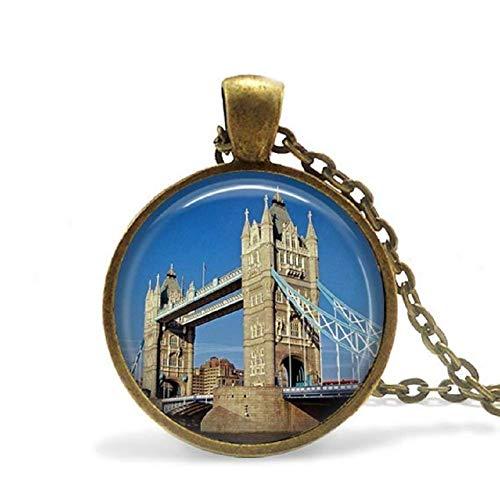 London Bridge Halskette Tower Bridge Schmuck London Anhänger United Kingdom River Themse Halskette