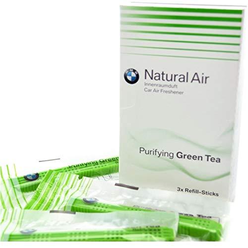 BMW Naturel Air Intérieur De Voiture Désodorisant Kit De Recharge De Parfum Thé Vert