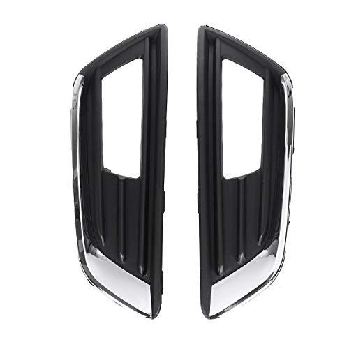 Cjianhua 2 piezas de coches marco de la lámpara frontal luz de niebla de la cubierta del bisel del cromo por un Ford Focus de 2015 2016 2017 2018 Marco 15A299BCP1A1 de faros antiniebla Todo nuevo nunc