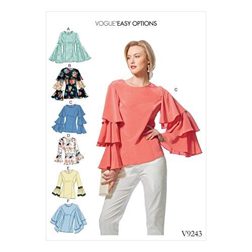 Vogue Patterns Patrons de Hauts, Multicolore, Tailles 14–22