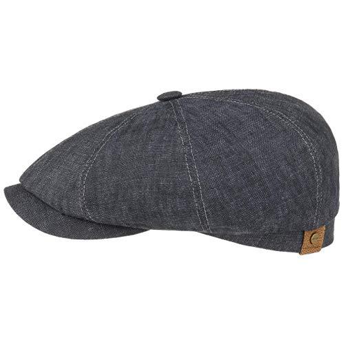 Stetson Hatteras Flatcap de Lino para Mujer/Hombre - con Forro de algodón - Gorra Plana con protección Solar...