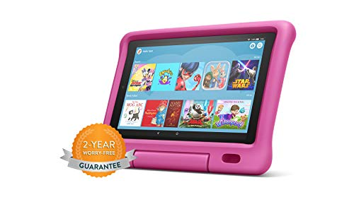 Fire HD 10 Kids Edition Tablet | 10.1' 1080p Full HD Display, 32 GB, Pink Kid-Proof Case