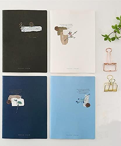 FACHAI 4 cuadernos de notas bonitos para crear diarios, 17,2 x 25 cm
