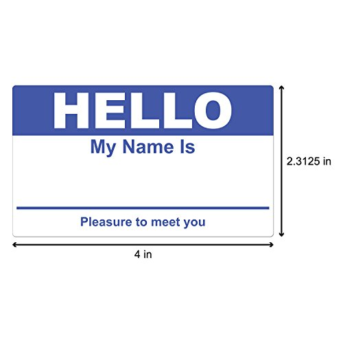 Dark Blue Hello My Name Is Name Badge Tag Labels Stickers - 1 Roll Photo #2