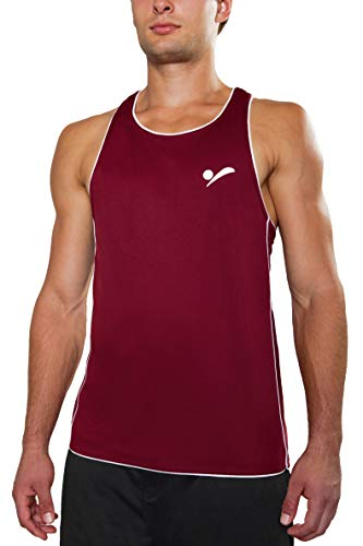 Beach Volleyball Apparel Herren Beachvolleyball Shirt Trikot Sport Tank Top TT100 (Dunkelrot, L/XL)