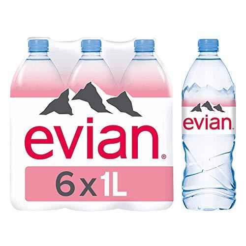 Agua mineral natural Evian 1 L 6 x 1 litre