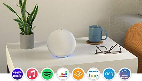 Echo (4ª generazione) - Audio di alta qualità, hub per Casa Intelligente e Alexa - Bianco ghiaccio