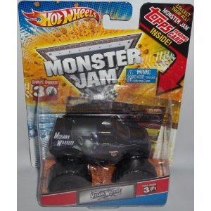 4KIDS Toy / Game Hot Wheels Monster Jam Mohawk Warrior 30th Anniversary Diecast Truck Series w/ Topps Trading Card