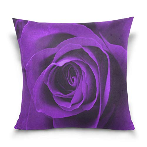 45x45cm Funda Throw Pillow Case Almohada Cojín Día San Valentín Flor Rosa púrpura Fundas colchón Cojines Decorativa Cuadrado sofá