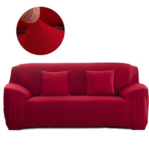Cornasee Funda de sofá Elastica 2 plazas,Cubierta para sofá con Cuerda de fijación,Rojo