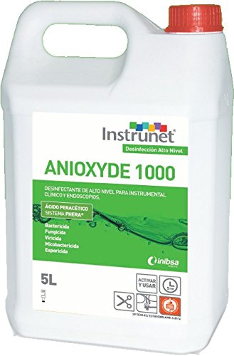 Desinfectante de alto nivel ANIOXYDE 1000 para instrumental clínico y endoscopios formato 5L.