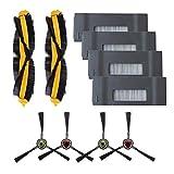 Amoy Repuestos Filtros y cepillos Laterales y Cepillo Principal Accesorios Compatible DEEBOT M80 M80pro M81 M81pro Robot Aspirador