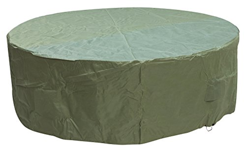 Woodside Green 6-8 Seater Round Waterproof Outdoor Garden Patio Furniture Set Cover Heavy Duty 600D Material 0.8m x 2.52m / 2.6ft x 8.3ft 5 YEAR GUARANTEE