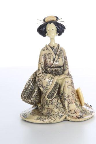 Artra Design decoratiefiguur Geisha jurk crème B