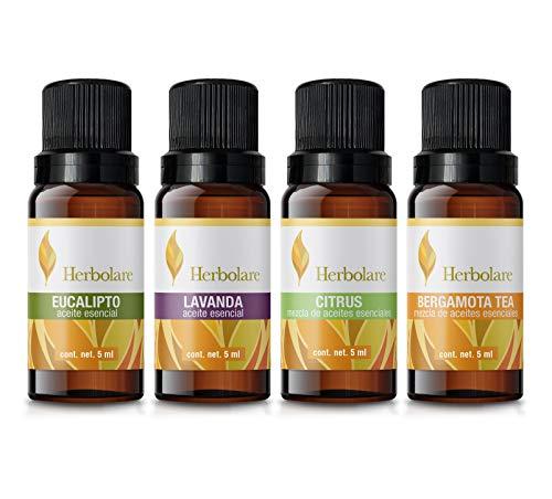 Paquete Bienestar Herbolare, 4 aceites 5 ml de sinergias y aceites 100% puros.