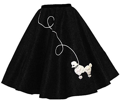 Hip Hop 50s Shop Adult Poodle Skirt Black XL/2X