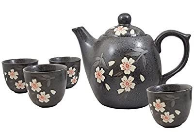 Happy Sales Pink Cherry Blossom Porcelain Tea Set