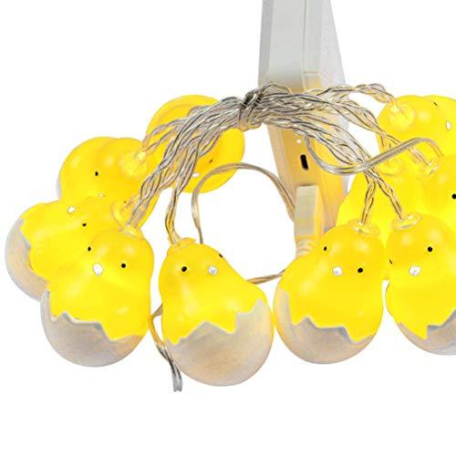 Luz de planta Luces de la secuencia de las luces de Pascua del polluelo Lurrose LED con la cáscara de huevo decoraciones festivas Luces de Pascua dormitorio cumpleaños decoración del partido cultivar