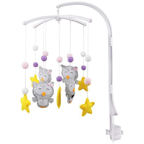 Fengzio Mobile halterung mit Spieluhr für babys mobile halter halterung für mobile baby mobile halterung für babybett/kinderbett (mobile halterung mit Niedlichen Tierchen)