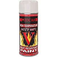VICTAS Heat Resistant Paint Spray – Fireproof - Ideal for BBQ's – Engines – Exhausts - Stoves – Furnaces – Heaters - Anti Corrosive – Decorative Finish – Easy to Use - Cream/Beige